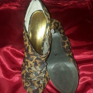 Chinese laundry cheetah print size 9 barley used